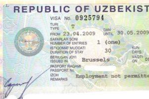 Xorijlik fuqarolarga O'zbekistonga kirish uchun beriladigan viza
